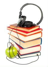 headset and books