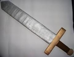 picture of a cardboard sword