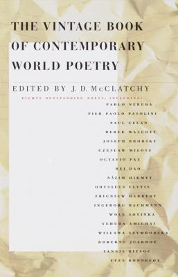 COVER OF VINTAGE BOOK OF CONTEMPORARY WORLD POETRY
