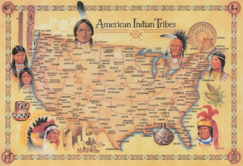 Native American Tribe Map for the Contemporary United States