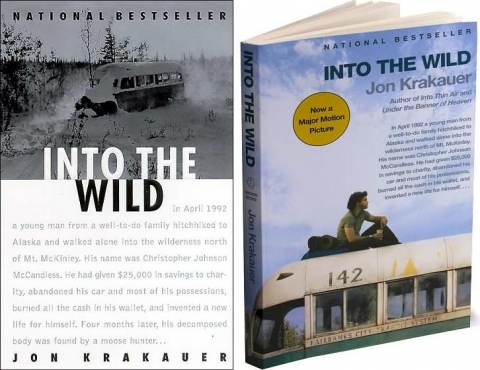 "Image of ""Into the Wild"" book covers"