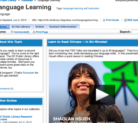 Language Learning LibGuide
