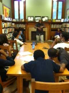 Lewis Ford performs for kids at Takoma Park