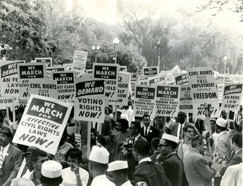 Crowd of March on Washington marchers