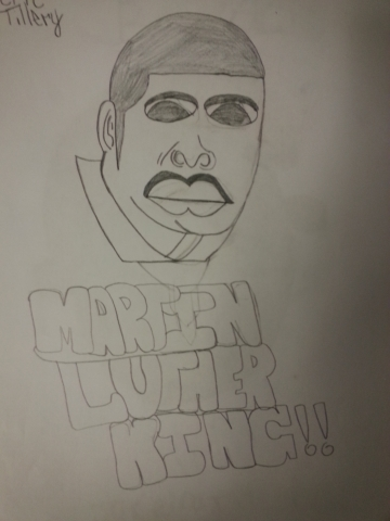 A drawing of Martin Luther King
