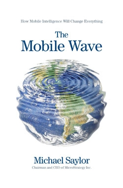 Mobile Wave Book Cover by Michael Saylor