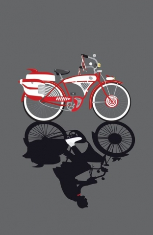 Fan Art of Pee-wee Hermann's Bike.