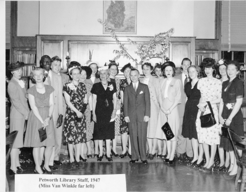 Petworth library staff, 1947