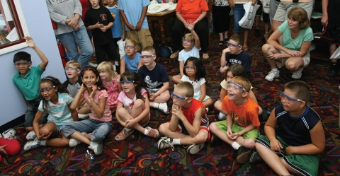 Photo of children with goggles on