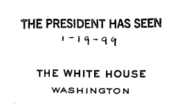 """The President Has Seen"" stamp"