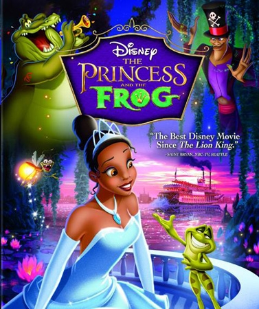 DVD Cover  for the princess and the frog DVD