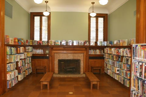 Children's Area with Restored Fireplace