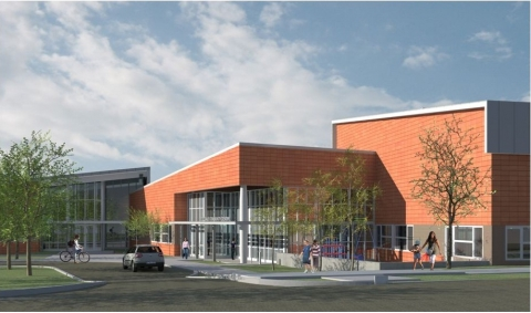 Rendering of Rosedale Library Exterior