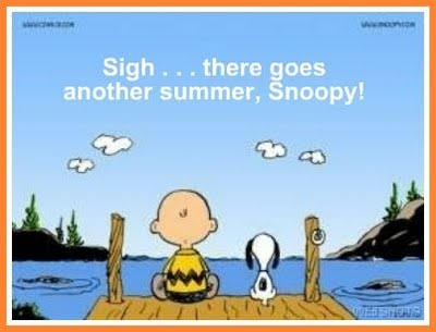 Snoopy - Charlie Brown - end of summer picture