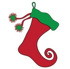 A Picture of a red stocking