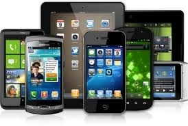 Photo of tabets, smartphones, and e-readers.