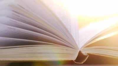 Sunlight through pages from shutterstock.com