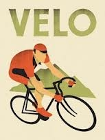 Image of bicyclist in action