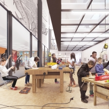 The new MLK Library will have a Maker Space for creation and collaboration.