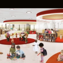 The new MLK Library will have a bright, interactive children's room.