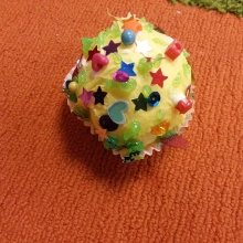 Picture of a participant's tissue paper cupcake