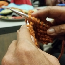 Upper NW Knitters at the Tenley-Friendship Library - detail