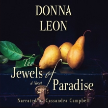 Jewels of Paradise cover- three pears and a leafy branch atop a vintage briefcase
