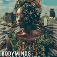 Bodyminds Reimagined cover - a black woman in the futuristic setting