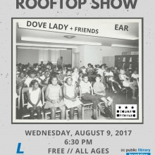 DC Punk Archive Rooftop Show with Dove Lady and EAR