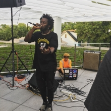 Sir E.U. performs at the Woodridge Library on July 12, 2017