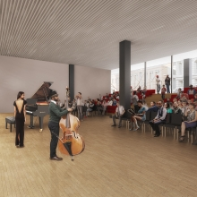 Preliminary rendering of new performance space