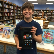 Image of Sammy K., winner of a Kindle Fire!