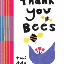 Thank you Bees book cover with flower and a bee