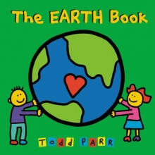The Earth Book cover. Two children holding the earth.