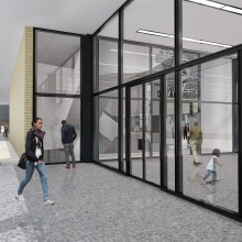 Preliminary rendering of entrance