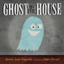 Ghost in the House cover: a blue cartoon ghost in front of a minimalist wall