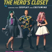 The Hero's Closet cover: three young adults in superhero costumes