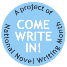 NaNoWriMo Come Write In logo.