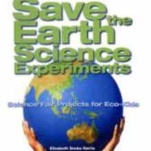 Save the Earth Science Experiments cover. Two hands hold up a model of the planet earth.