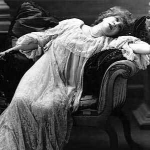 """Depiction of a woman in the Victorian Era suffering """"hysteria"""""""