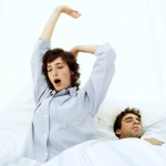 Image of stretching in bed