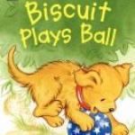 """""""Biscuit Plays Ball"""" book cover"""