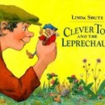 """Book cover """"Clever Tom and the Leprechaun"""""""