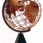 Copper World Globe Sculpture. Image from www.1worldglobes.com.