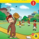 """Curious George Home Run"" book cover"