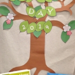 Image of Earth Day display in 220