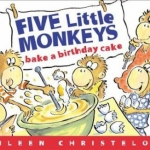 "Link to ""Five Little Monkeys Bake a Birthday Cake"" book"