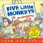 "Link to ""Five Little Monkey's Go Shopping"" book"