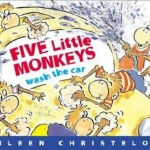"""Link to """"Five Little Monkeys Wash the Car"""" book"""