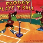 """DC Public Library Catalogue Link to """"Froggy Plays T-Ball"""" book"""
